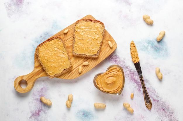 Peanut butter sandwiches Free Photo