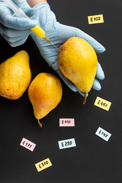 배 Gmo 과학 식품 프리미엄 사진