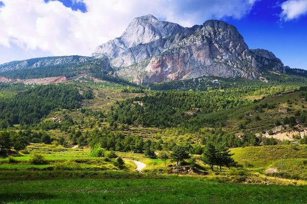 Pedra Forca - white rocky mountain in Pyrenees  Free Photo