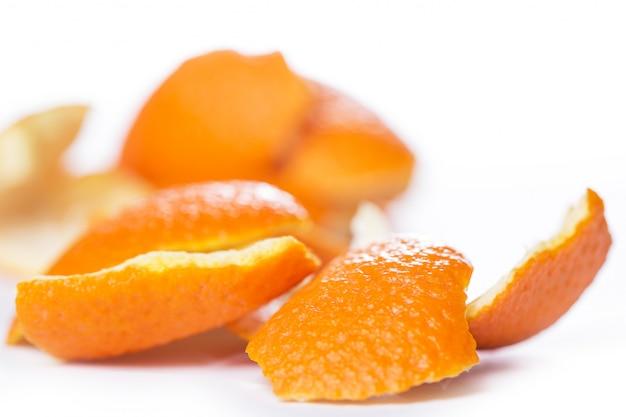 Peeled orange and its skin Free Photo