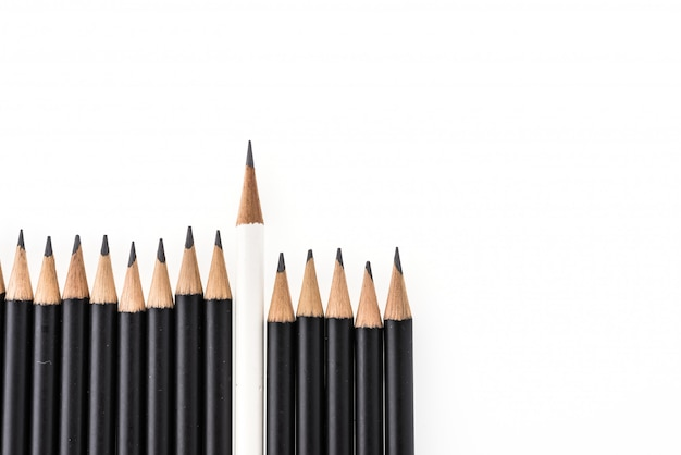 Pencil isolated on white background Free Photo