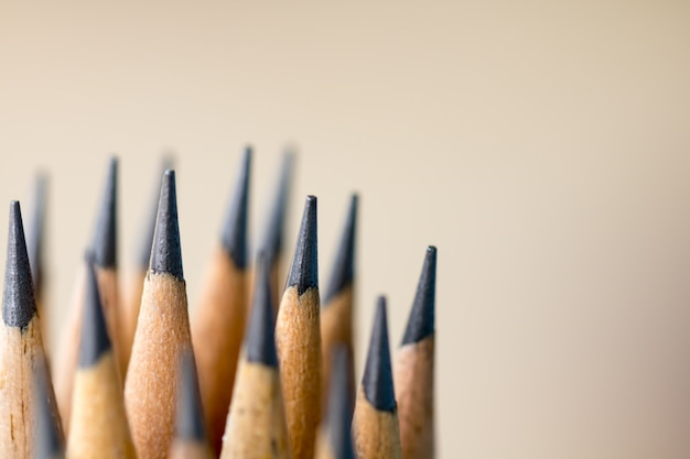 Pencil on table in morning light Premium Photo