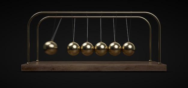 Pendulum golden balls Premium Photo
