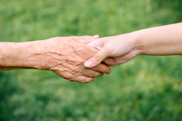 Pension, old age and care of seniors Premium Photo