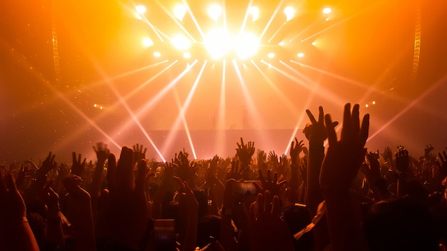People in a concert Premium Photo
