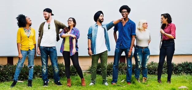 People friendship relationship team togetherness concept Premium Photo