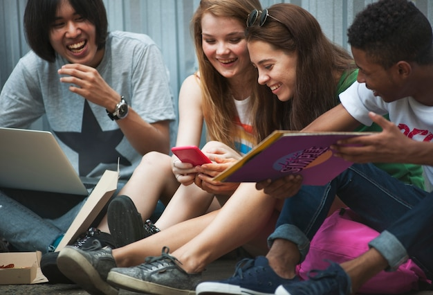 People friendship togetherness activity youth culture concept Premium Photo