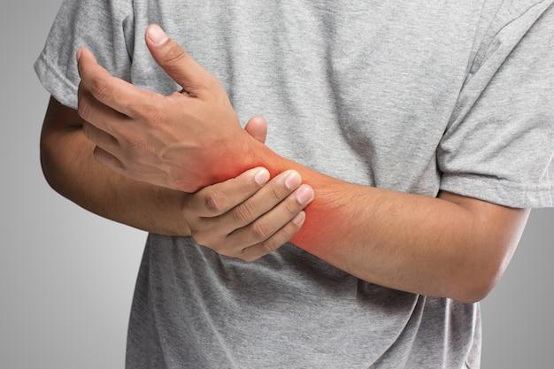 People has pain in hand Premium Photo