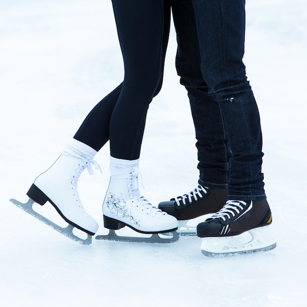 People on the ice rink Free Photo