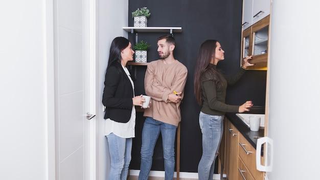 People on office kitchen Free Photo
