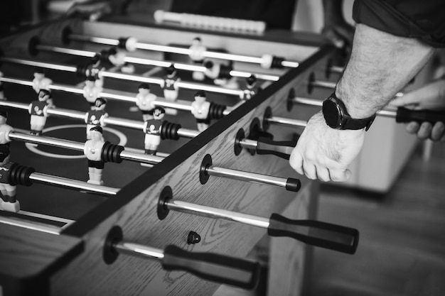 People playing table football Free Photo