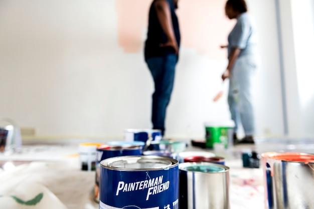 People renovating the house Premium Photo