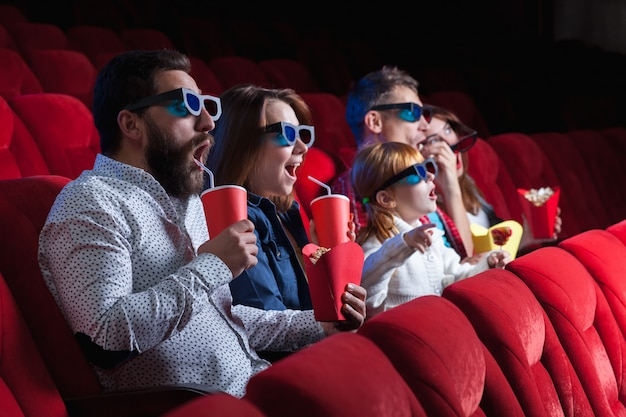 The people's emotions in the cinema Free Photo