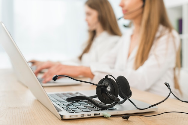 People working in call center Free Photo