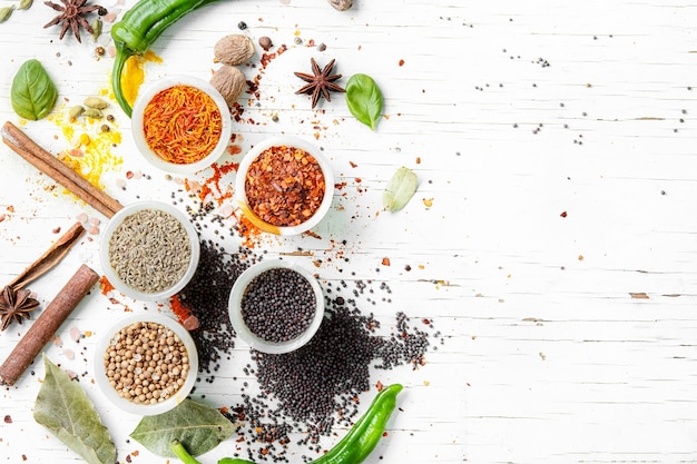 Peppercorn and indian spice Premium Photo