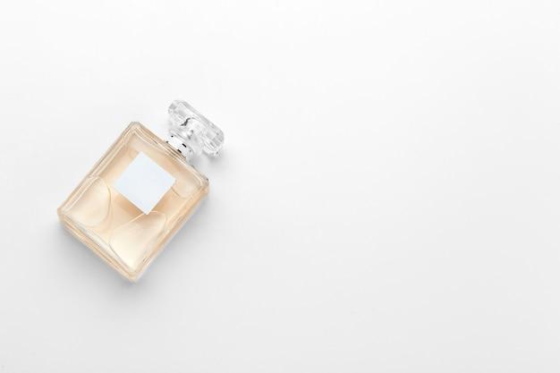 Perfume bottle on white background Premium Photo