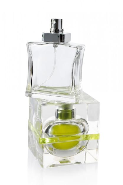 Perfume bottles on white Premium Photo