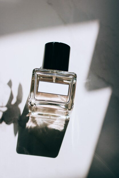 Perfume bottles with blank labels Premium Photo