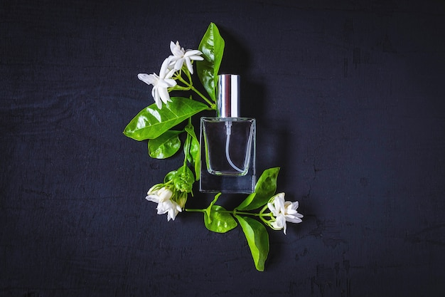 Perfume and perfume bottles and the aroma of flowers Premium Photo