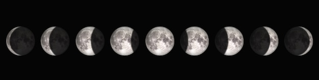 The period from full moon to new moon. Premium Photo