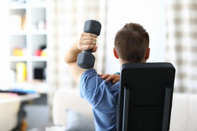 Person exercise in living room Premium Photo