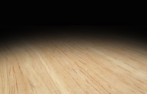 Perspective light wooden floor fade to black background, Template ...