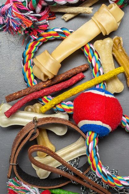 Pet accessories, food and toys Premium Photo