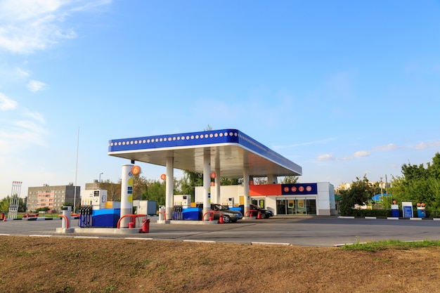 Petrol gas station station Premium Photo