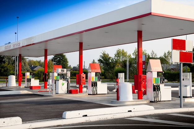 Petrol station for self service fuel Premium Photo