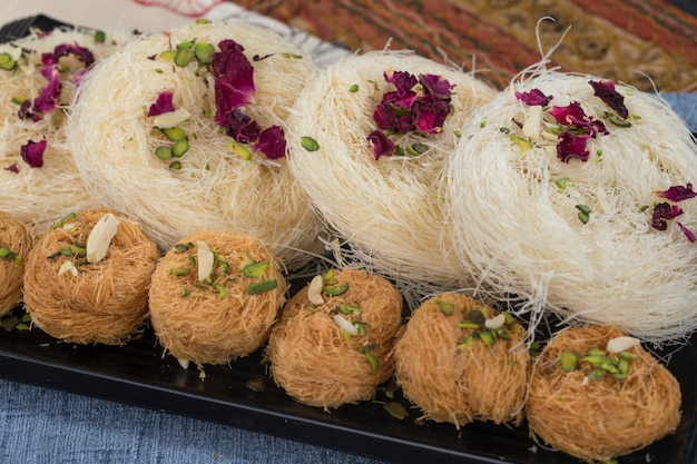 Pheni or fini sweet food Premium Photo
