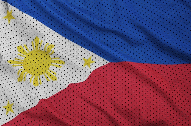 Philippines flag printed on a polyester nylon mesh Premium Photo