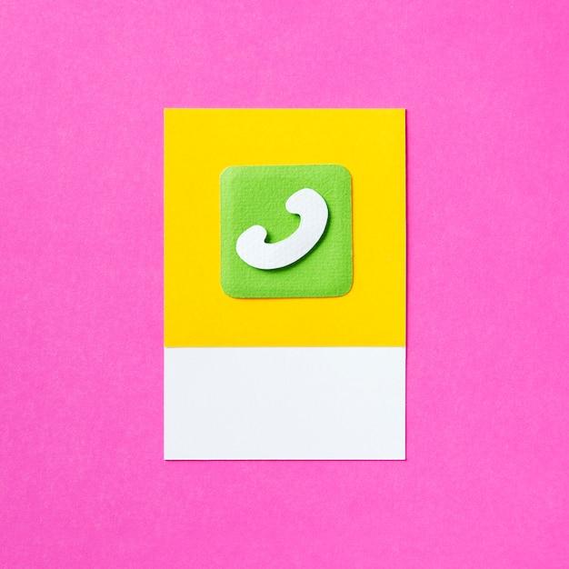Phone call communication icon illustration Free Photo