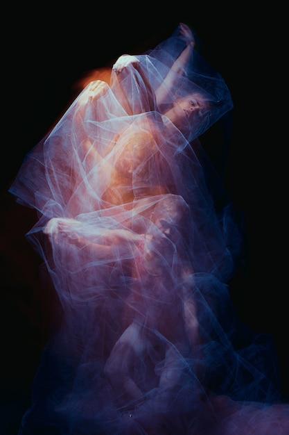 Photo as art - a sensual dance of  the one beautiful ballerina Free Photo