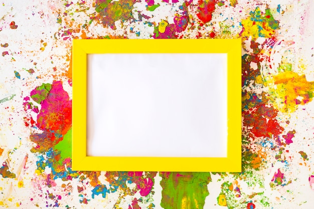 Photo frame between bright dry colors Free Photo