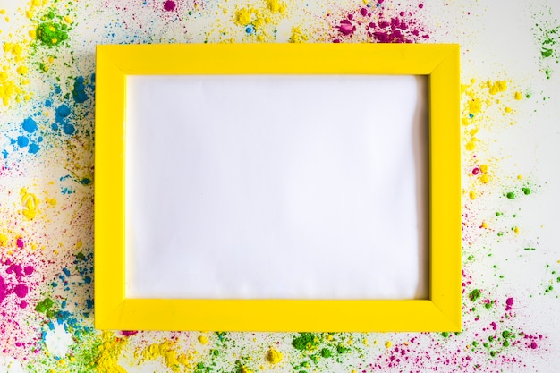 Photo frame between different bright dry colors Free Photo