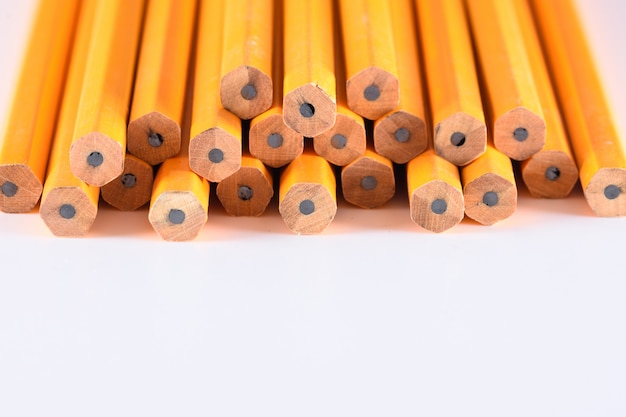 Photo of pencils in white background Premium Photo