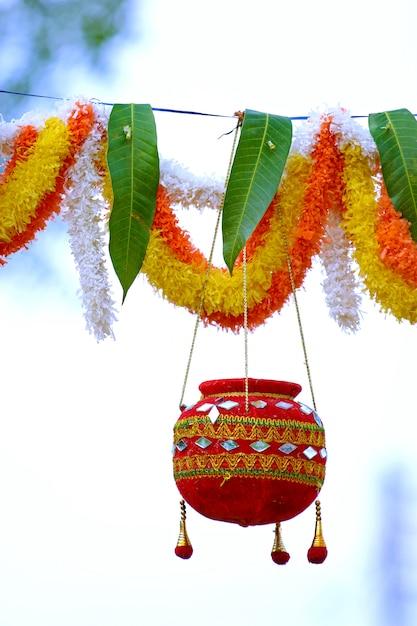 Photograph of  dahi handi festival in india Premium Photo