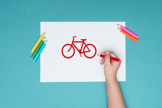 The photograph on the subject of cycling, leisure, healthy lifestyle Premium Photo