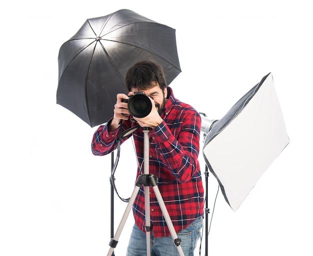 Photographer in his studio Free Photo