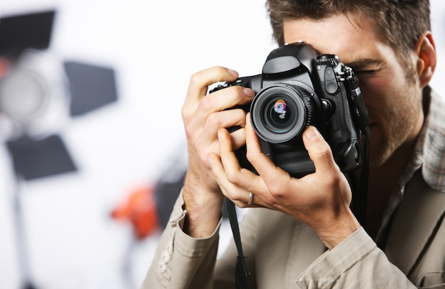 Photography man Premium Photo