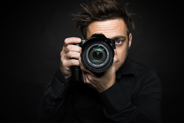 Photography man Premium Photo