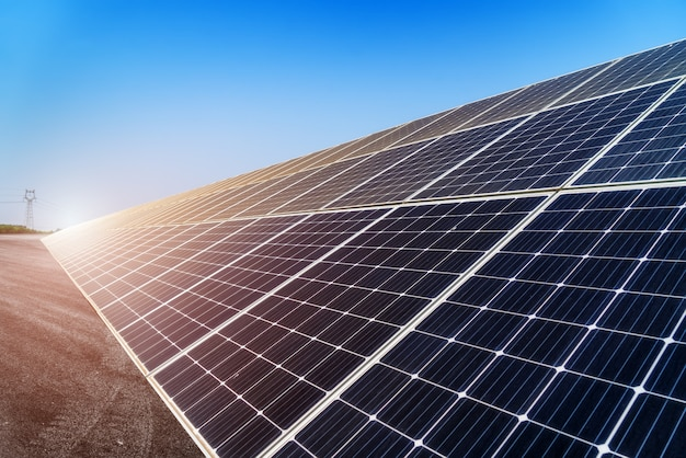 Photovoltaic modules for renewable energy Premium Photo