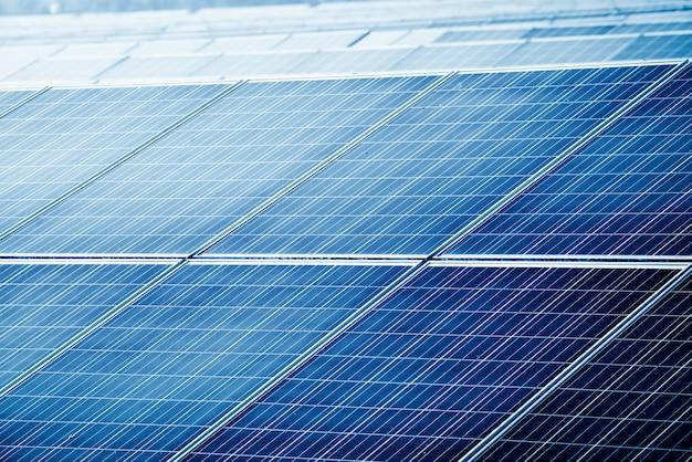 Photovoltaic panels for renewable electric production, navarra, aragon, spain. Premium Photo