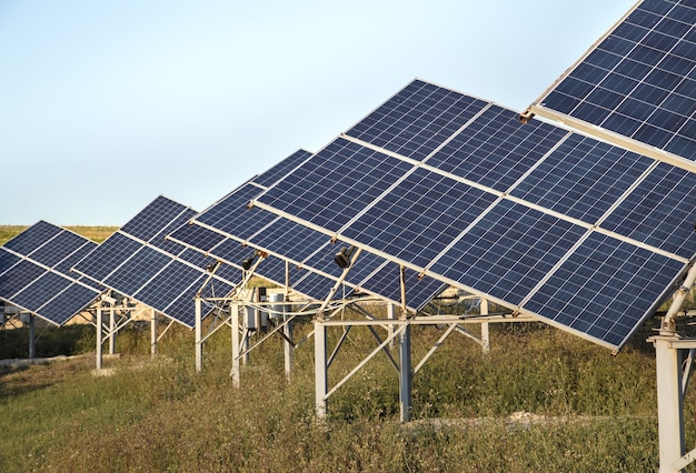 Photovoltaics in solar power station energy from natural. Free Photo