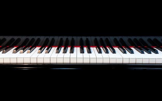 Piano background with selective focus Premium Photo