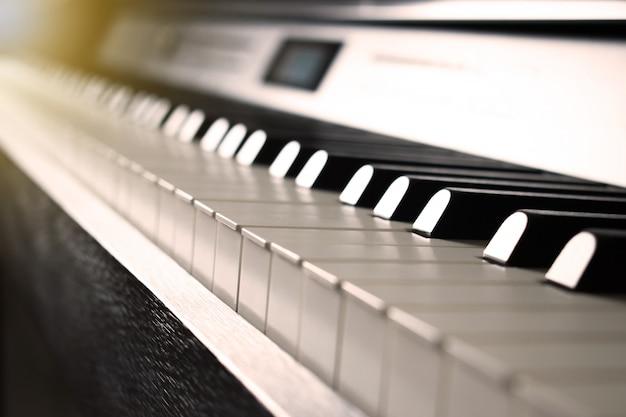 Piano image with sepia tone. Premium Photo