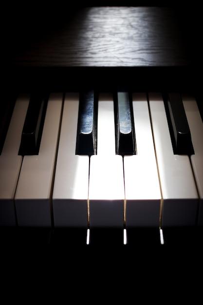 Piano key. art and music background. Premium Photo