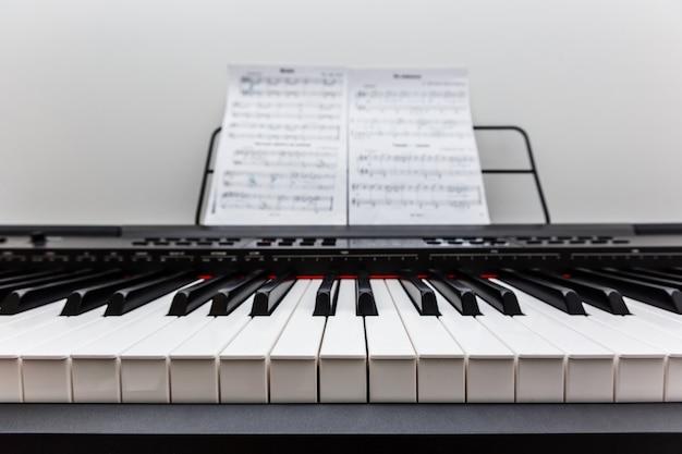 Piano and piano keyboard Premium Photo
