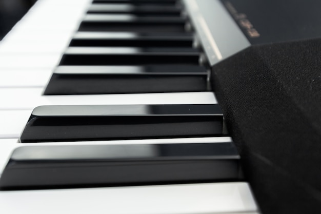 Piano and piano keyboard Premium Photo