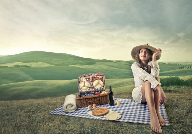 Picnic on the countryside Premium Photo